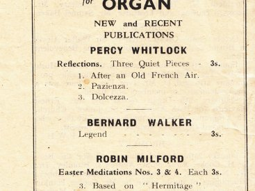 Oxford Music for Organ: front cover